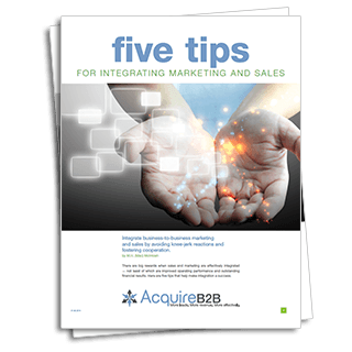 Five tips for integrating marketing and sales