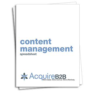 Content management spreadsheet